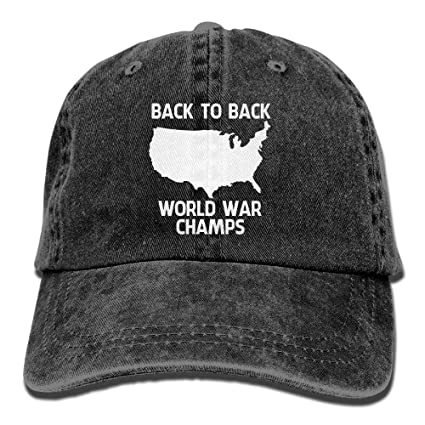Amazon.com   Fashion Baseball Caps Hats Back-to-Back World War ... 6fb862ca6ef
