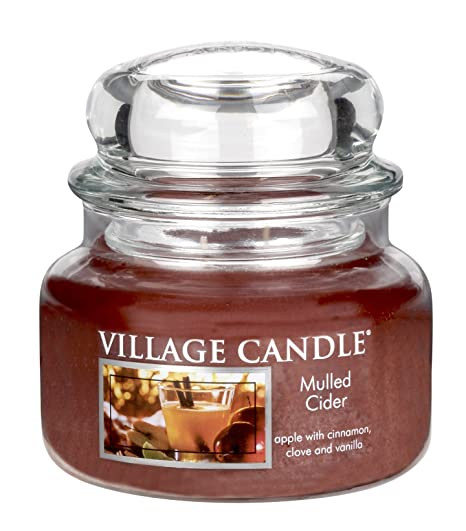 Medium Village Candle Mulled Cider 16 Oz Glass Jar Scented Candle Sareg Com