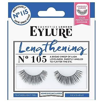 4555db2c664 Eylure Strip Lashes, Lengthening Number 105: Amazon.co.uk: Beauty