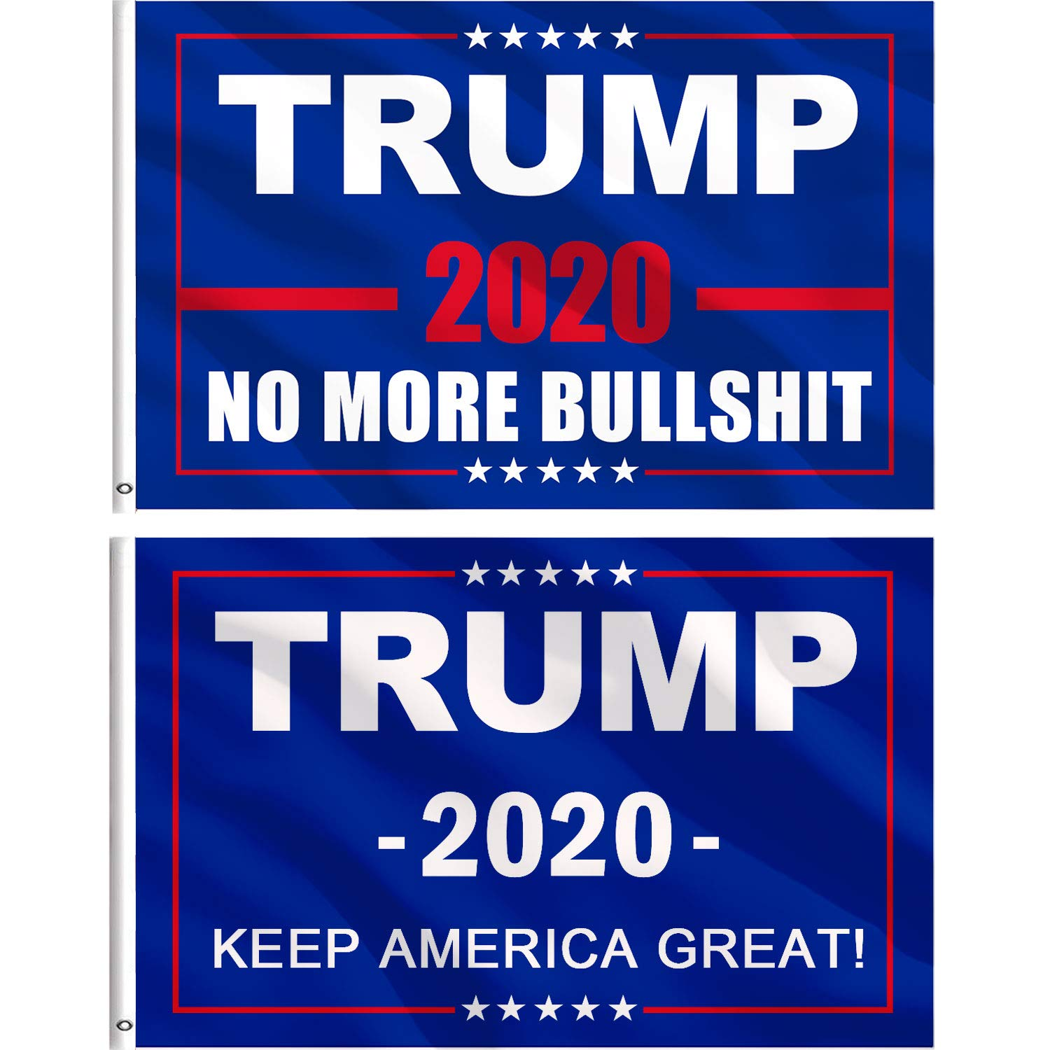 Jetec 2 Pieces Donald Trump For President 2020 Keep America Great Flag