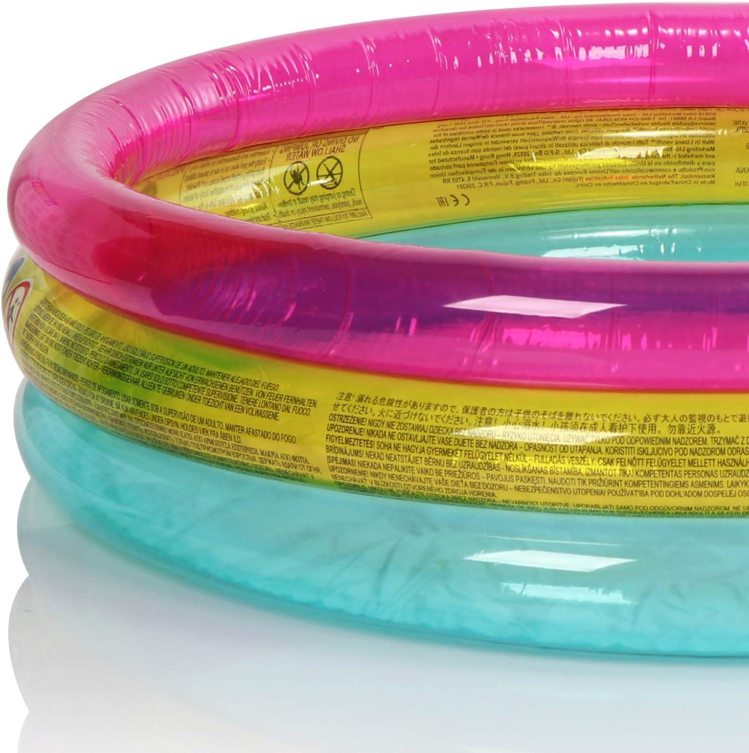 com-four/® Piscine /à balles Pataugeoire pour b/éb/és avec des balles de Jeu color/ées Mini-Piscine Gonflable pour Les Tout-Petits