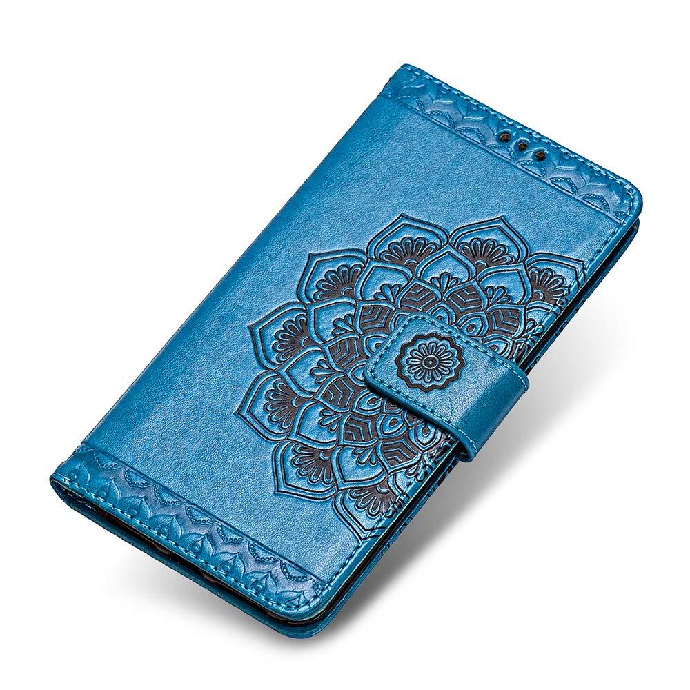 Cinturino da Polso Blu The Grafu/® Flip Cover Caso Libro Pelle PU e TPU Silicone Chiusura Magnetica per Samsung Galaxy S8 Plus Slot Carte Cover Galaxy S8 Plus