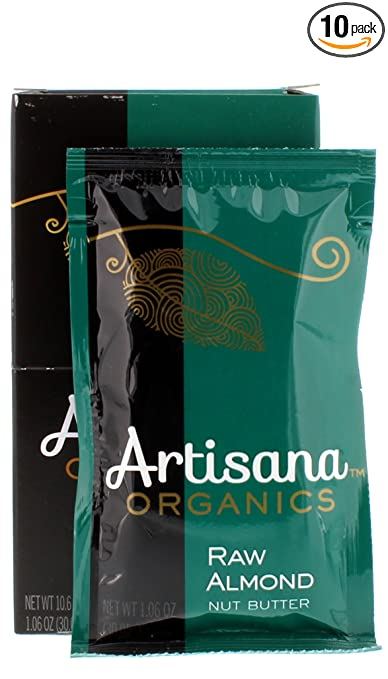 Artisana Organics - Almond Nut Butter, Single Ingredient Handmade Rich & Thick Spread (10-1.06 oz Pack))