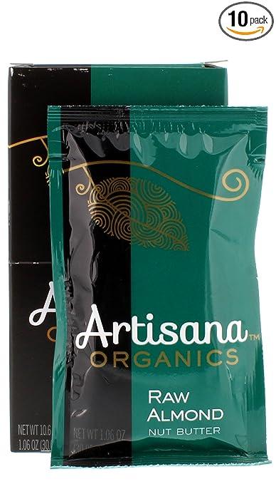 Artisana Organics - Almond Nut Butter, Single Ingredient Handmade Rich & Thick Spread (10-1.06 oz Pack))