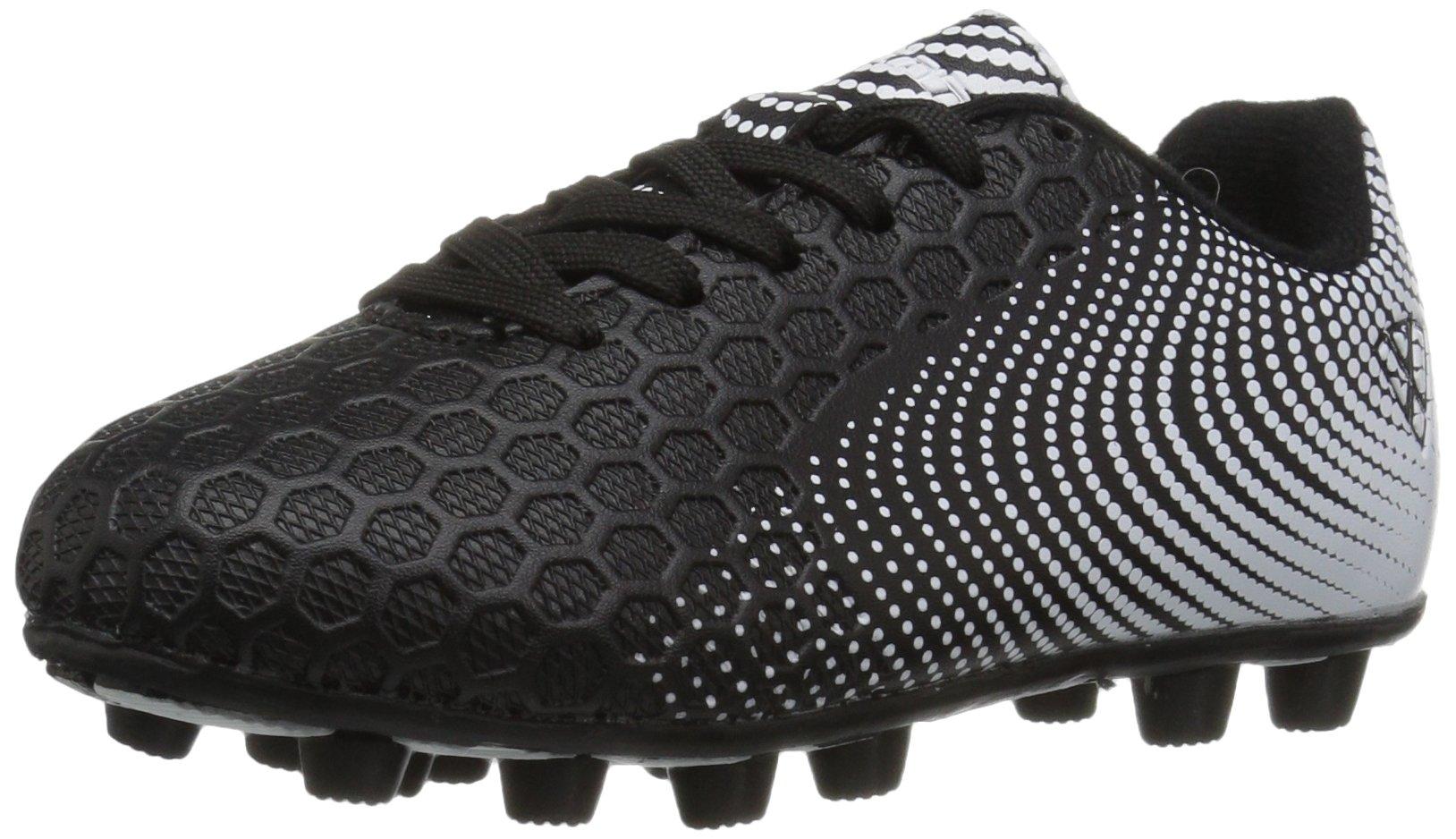 Vizari Unisex-Kids Stealth FG Size Soccer-Shoes, Black/White, 10 M US Little Kid