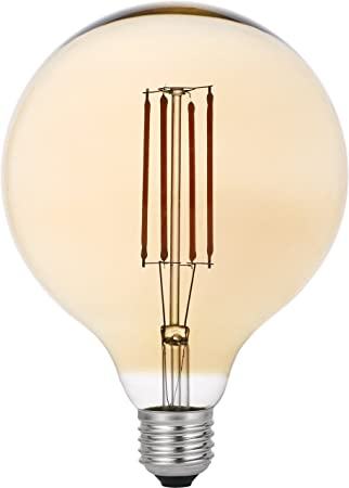 Garza Lighting - Bombilla LED Vintage Gold, potencia 4W, casquillo E27, luz cálida