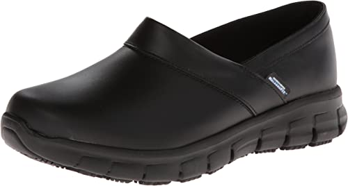 skechers black work shoes