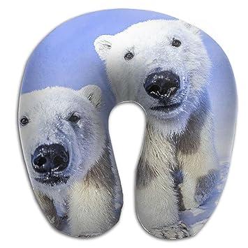Amazon.com: Cojín para el cuello, diseño de oso polar, para ...