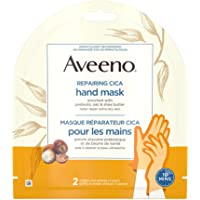 Aveeno Repairing CICA Hand Mask with Prebiotic Oat and Shea Butter, Dry Skin Moisturizer, 2 Single Use Gloves (1 pair…