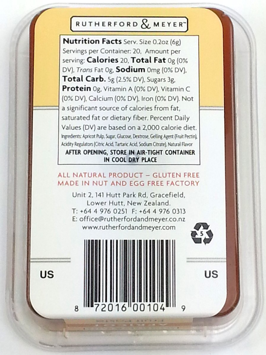 Rutherford and Meyer Fruit Paste, Apricot, 4.2-Ounce Containers (Pack of 4) by Rutherford & Meyer (Image #1)