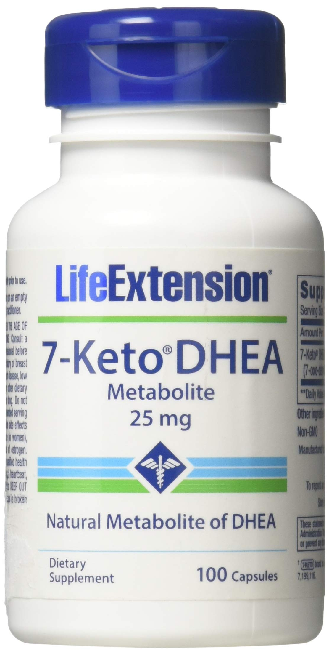 Life Extension - 7-Keto DHEA Metabolite 25 mg 100 caps (Pack of 2)