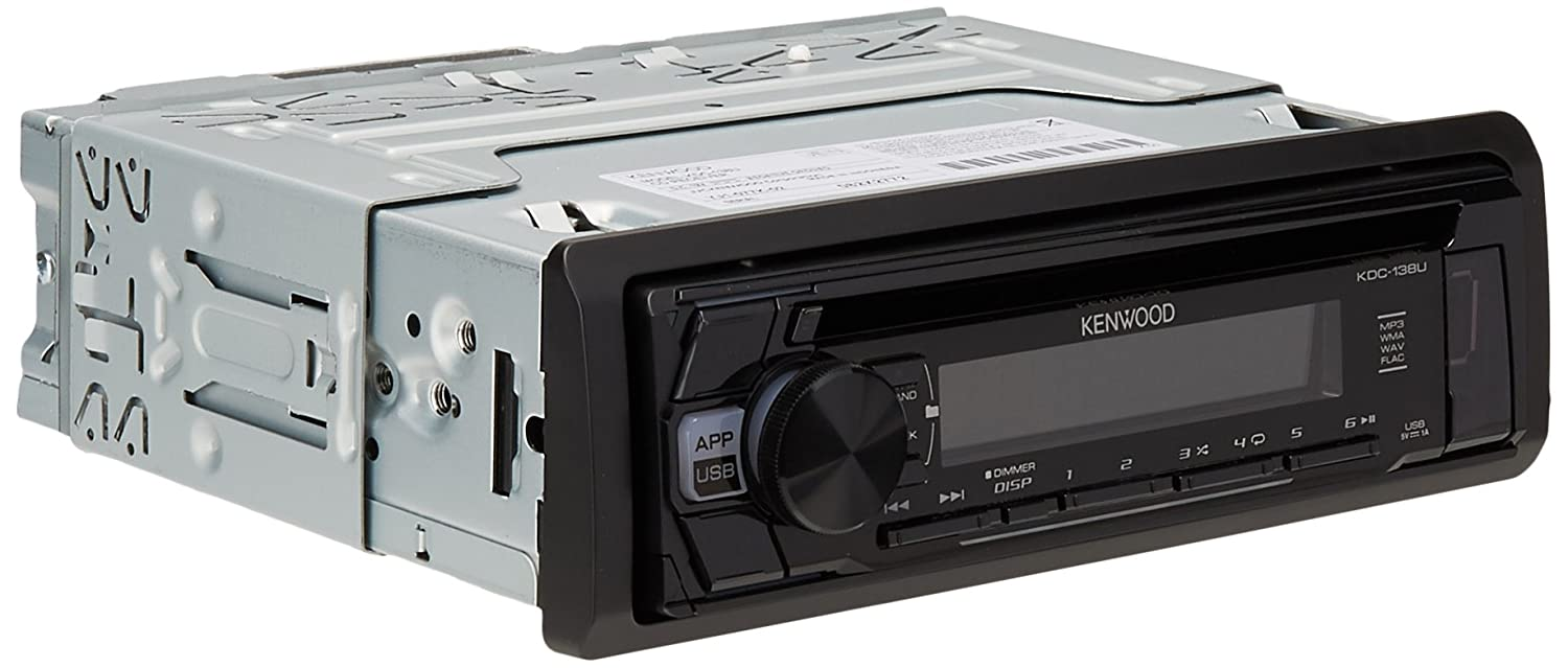 Kenwood KDC-168U In-Dash 1-DIN CD Car Stereo Receiver with Front USB Input KDC-138U