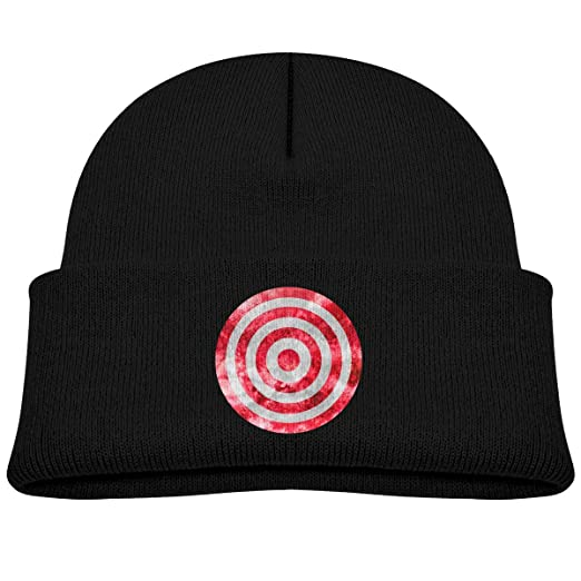 d40ea28728a Amazon.com  Kids Knitted Beanies Hat Red Vortex Target Winter Hat Knitted  Skull Cap for Boys Girls Black  Clothing