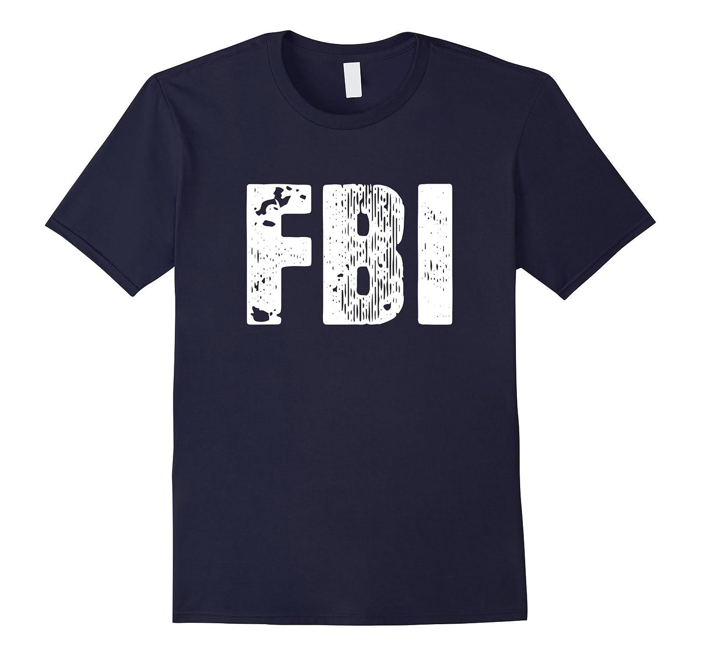FBI T-Shirt Distressed FBI Law Enforcement Shirt-TD