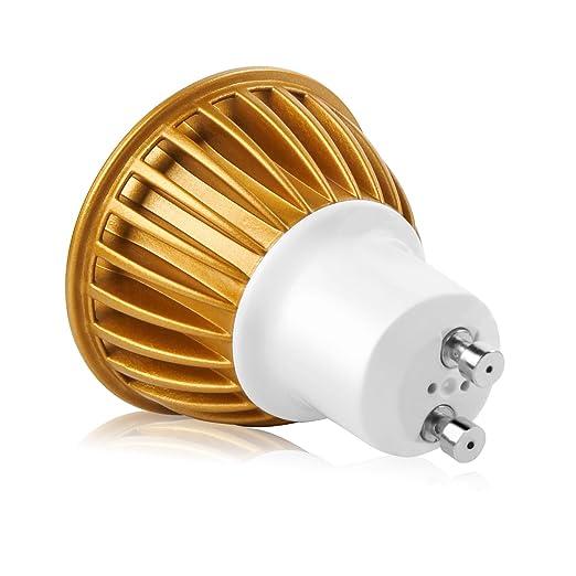Jpodream GU10 LED Bombillas Blanco Frío 6000K, 7W COB Lámpara LED, Equivalente a 60Watt Lámpara Incandescente, 550lm, AC85-265V, 60 ° ángulo de haz, ...