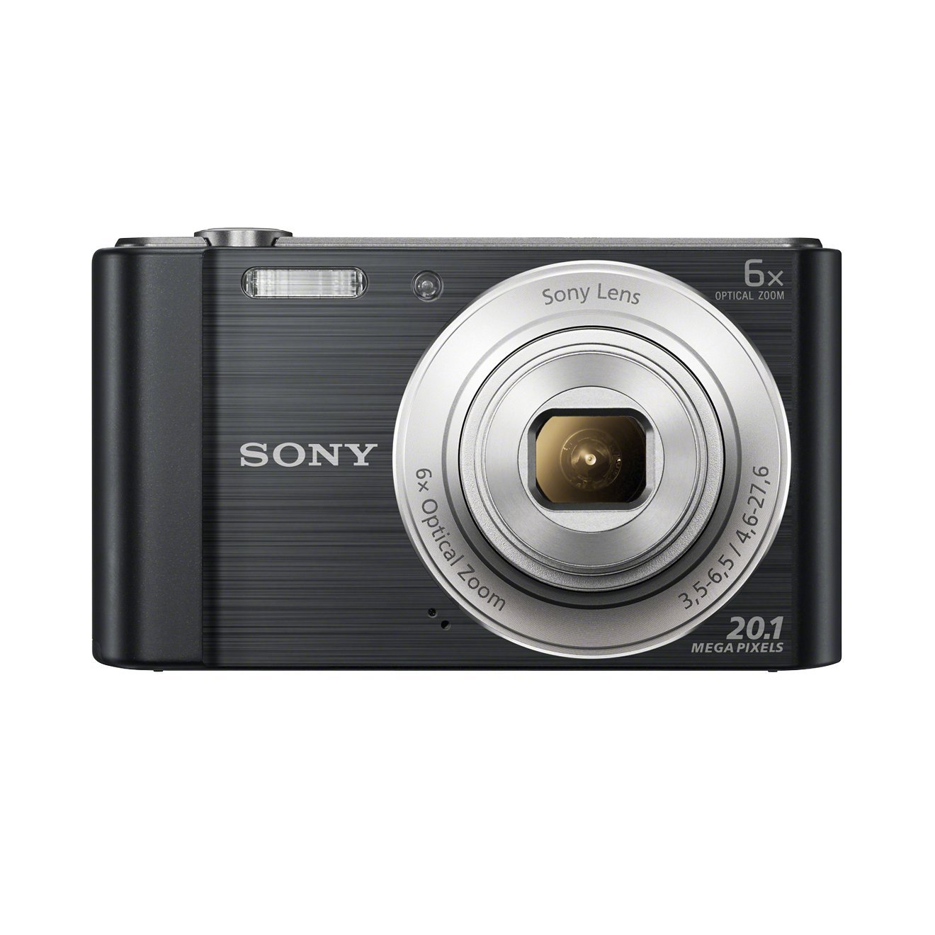Sony DSCW810B.CEH Digital Compact Camera (20.1 MP, 6 x Zoom, 2.7 LCD, 720p HD, 26 mm Sony G Lens) - Black