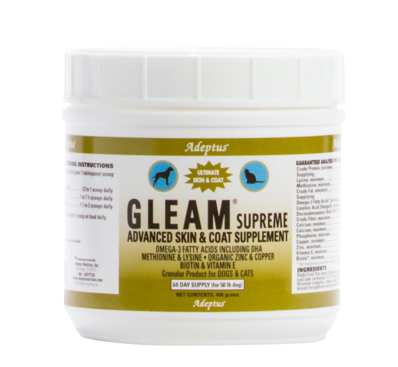 Adeptus Nutrition Gleam Supreme Pet Food, 480 g 5 x 5 x 4.5