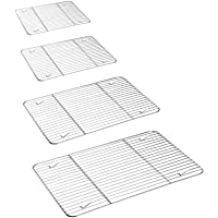 P&P CHEF Cooling Rack Set for Baking Cooking Roasting Oven Use, 4-Piece Stainless Steel Grill Racks, Fit Various Size…