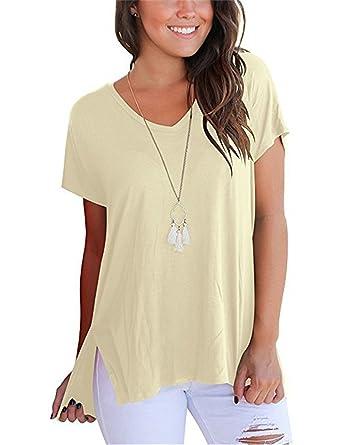 fe65b2a009561 Beancan Casual Basic Solid T Shirt Women Sexy V Neck Loose Modal Cotton Tshirt  Femme Vintage