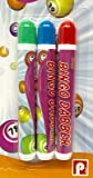 SystemsEleven Brand New Pack Of 3 Multi-Coloured Bingo Dabbers No Ink Blobs Guaranteed BNIP