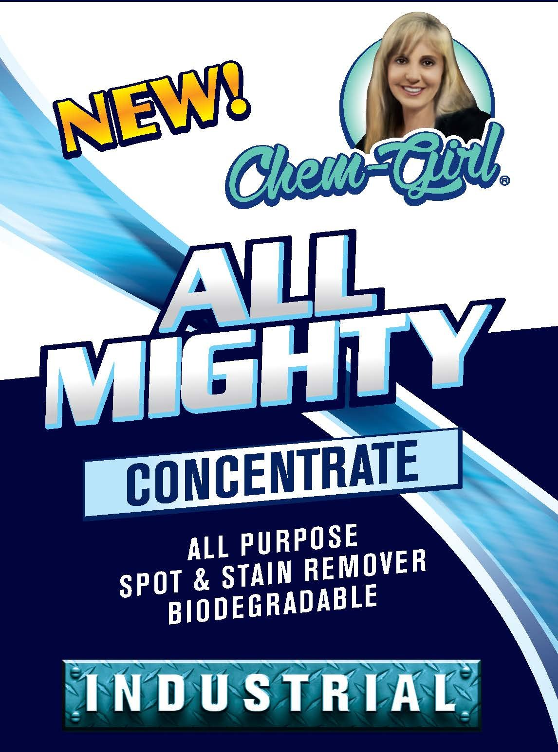 Chem-Girl | All Mighty Concentrate | Biodegradable All Purpose Cleaner | Multi-Surface Household Spot & Stain Remover | Indoor & Outdoor Use | Safe for Carpets, Clothing, Countertops, Walls & More