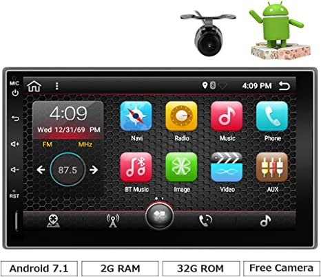 Universal Coche Estéreo con Bluetooth, eunavi 7
