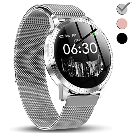 1.3 IPS Smart Watch for Men Women, HD Screen 5 Dial with Heart Rate Blood Pressure Monitor Calories Sleep Step Counter Camera Music Control Sport ...