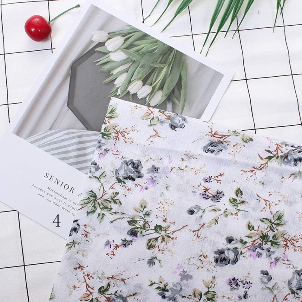 Wifehelper 3 Types 7pcs 50 50cm Tissu en Coton DIY Assortis Carr/és Literie Suite Quarters Bundle Patchwork Couture Quilting Artisanat Rose
