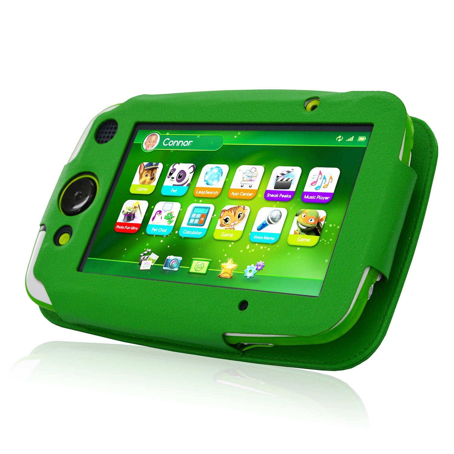 ACdream LeapPad Platinum Case, PU Leather Cover Case for LeapFrog LeapPad Platinum Kids Learning Tablet (NOT FIT LeapPad3), Green by ACdream (Image #3)