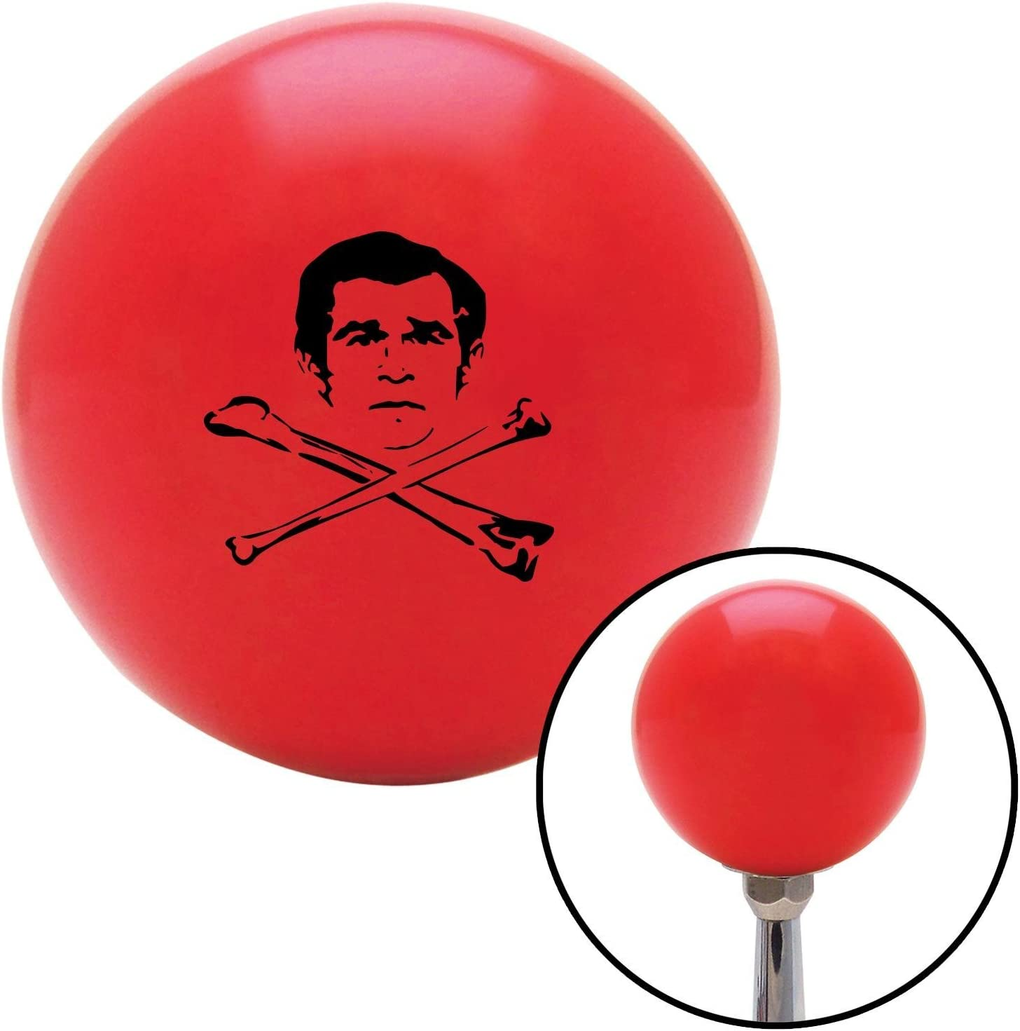 American Shifter 100781 Red Shift Knob with M16 x 1.5 Insert Black Deaths Head