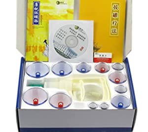 Kangzhu 12-Cup Biomagnetic Chinese Cupping Therapy Set