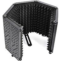 Escudo Aislamiento Micrófono, Moman RF30 Filtro Antipop de Espuma para Cualquier Micro Condensador Estudio con 5 Panel…
