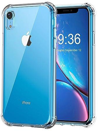Bovon Funda para iPhone XR (6.1 Pulgadas), Carcasa Transparente Ultrafina, Protección Anti Choques y Caídas, Suave Silicona de TFU, Funda Anti ...
