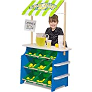 Melissa & Doug Grocery Store/Lemonade Stand (Play Food, Wooden Play Center)