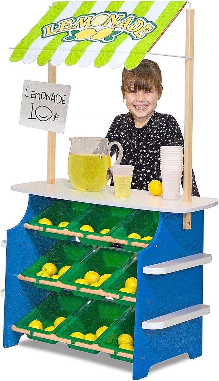 Amazon Com Melissa Doug Grocery Store Lemonade Stand Melissa Doug Toys Games