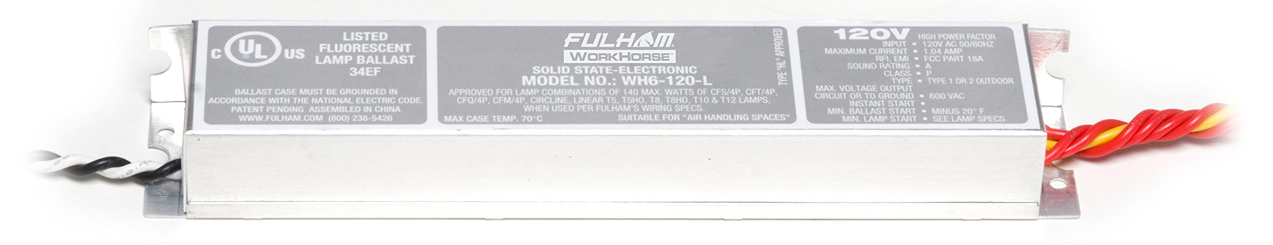 Fulham WorkHorse Adaptable Ballast, WH6-120-L