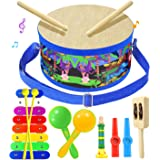 Smarkids Musical Instruments Music Toys Wood Toddler Kids Drum Set