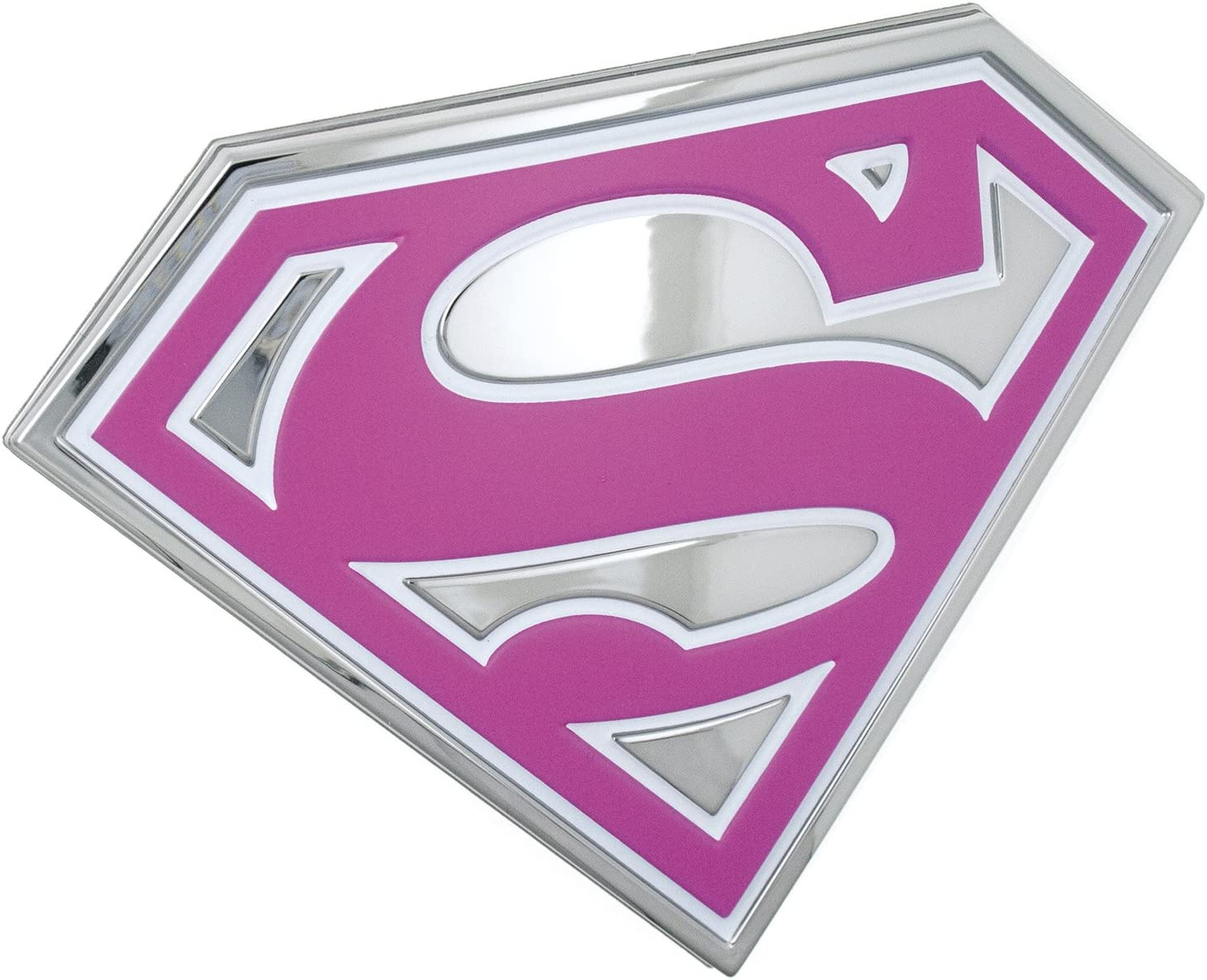 3D Chrome Metal Auto Car Motorcycle Superman Logo Sticker Badge Emblem Decal New