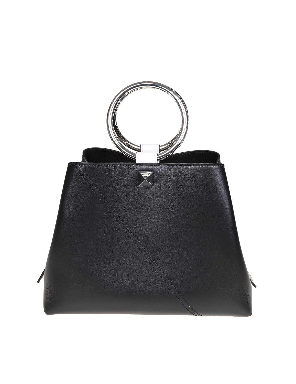 SALAR Damen R19POWGschwarz Schwarz Leder Handtaschen B07NC4D1QC Schultertaschen