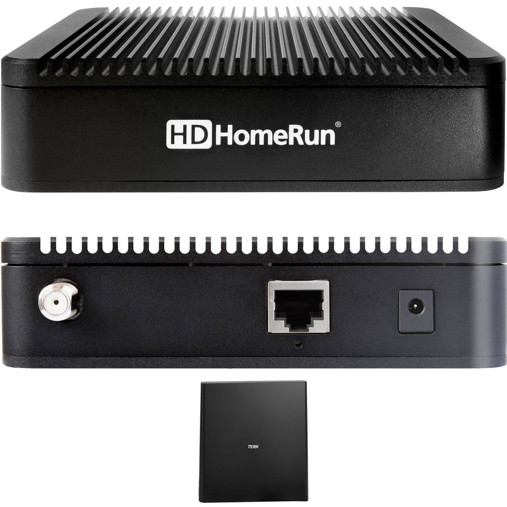 SiliconDust HDHomeRun Extend ATSC with Free Broadcast HDTV 2-Tuner (HDTC-2US-M) with Indoor Flat 4K HDTV Multi-Directional Antenna