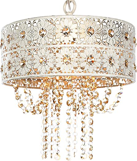 12.5 Jeweled Blossoms Hanging Lamp – Champagne