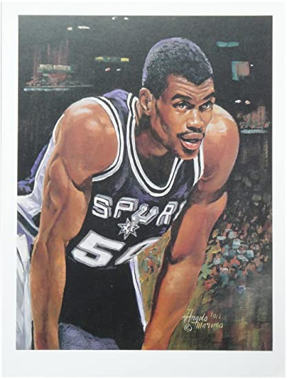 best authentic a35e5 4f552 David Robinson 9x12 Poster Photo Unsigned San Antonio Spurs ...