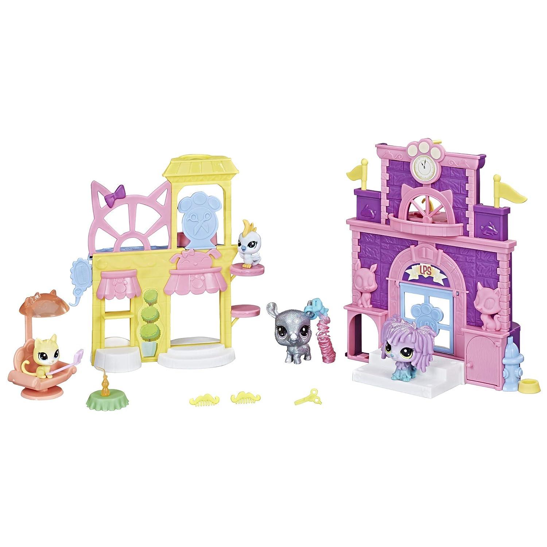 Littlest Pet Shop おままごとセット パーティー用 ダブルプレイセット おもちゃ キラキラ デコ ファンボート 4歳以上   B07CPGMSW5