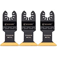 EZARC Titanium Oscillating Multitool Blade for Wood, Metal and Hard Material, 3-Pack
