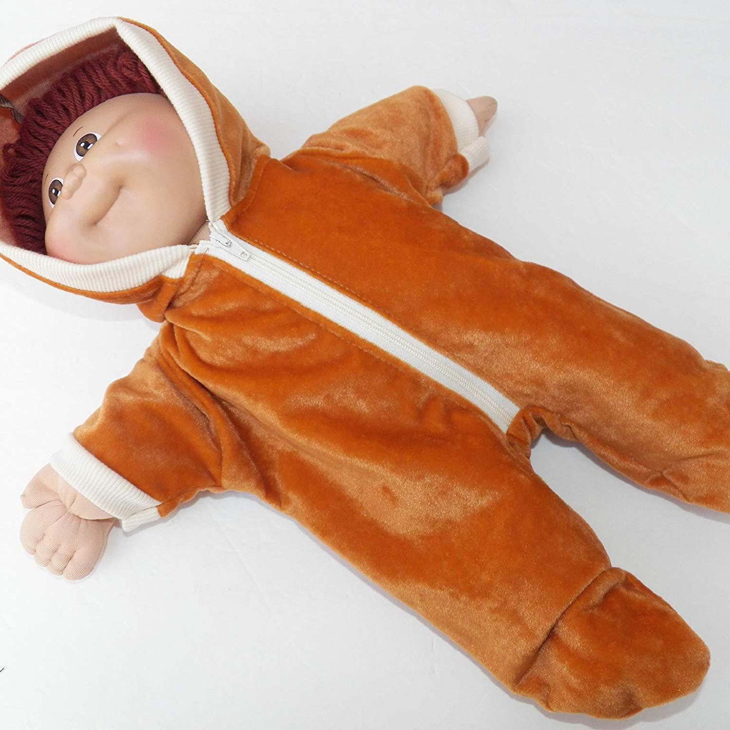 16 Inch Boy Brown Hooded Play Outfit Cabbage Patch Doll Clothes