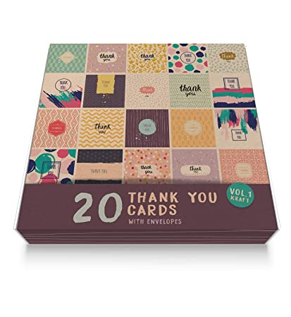 Tarjetas de agradecimiento (20 unidades, 15 x 15 cm), diseño ...