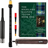 Barefoot Bagpiper Practice Bagpipe Chanter Standard Length, 18 inches. Includes Corduroy Carry Case. 2 Quality Reeds and…