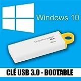Windows 10 - Familiale & Professionnelle (Home & Pro) - Français - 32 & 64 bits - Clé USB 3.0 - 8 Go - Réinstallation, restauration, réparation