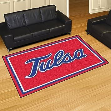 Amazon Com Fan Mats 20273 University Of Tulsa Golden Hurricane 5 X 8 Area Rug Home Improvement