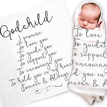 Amazon godchild gift quote baby swaddle blanket christening godchild gift quote baby swaddle blanket christening gift baptism gift for godson goddaughter muslin negle Choice Image